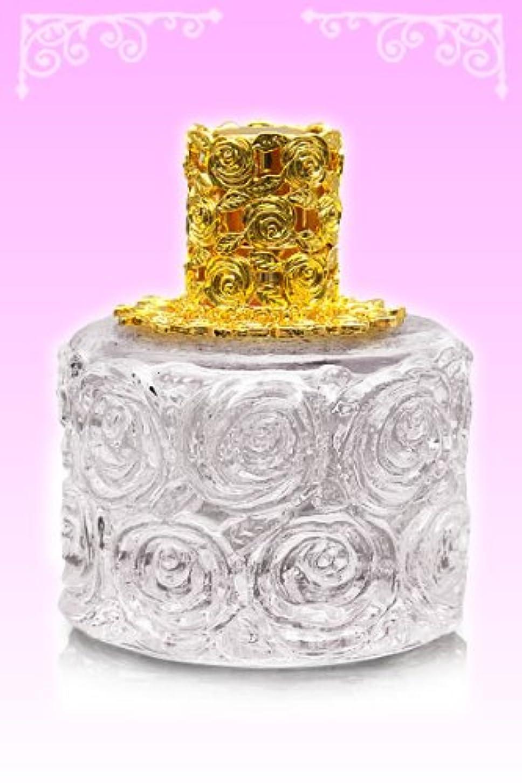 法王眩惑する設計【ノエルランプ】ミニローズランプ クリア?ゴールド ランプベルジェ製アロマオイルでも使用可