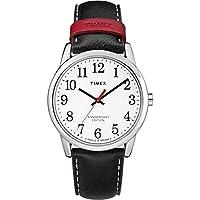 Timex Men's TW2R40000 Easy Reader 40th Anniversary Black/White Leather Strap Watch