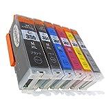 BCI-351XL(BK/C/M/Y/GY)+BCI-350XLPGBK大容量顔料ブラック 6色セット [Canon]新互換インクカートリッジLED・残量表示付き (最新型ICチップ付き)  【A.I.S製品】