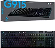 Logitech 920-009227 G915 Lightspeed Wireless RGB Mechanical Gaming Keyboard with GL-Linear Switch, Black
