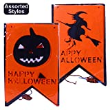 Halloween Non-Woven Jointed Banner-Happy Halloween Banner Decoration (Assorted)