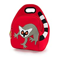 Dabbawalla Bags Lemur Insulated Washable Lunch Bag, Red by Dabbawalla Bags
