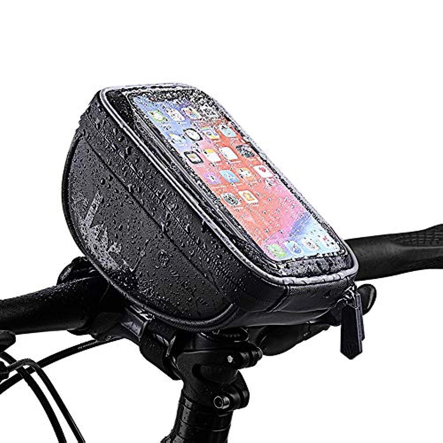 新年ピアニスト地中海自転車フレームバッグ、6.0以下の携帯電話に適した防水タッチスクリーン自転車フロント携帯電話フレームパッケージブラケット、