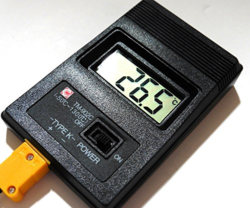 Astral 小型 高耐熱 デジタル 温度計 -50℃ から 750℃ K型 熱電対 ケーブルタイプ (本体/プローブ)