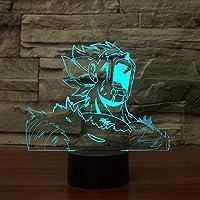 CJRSAM タッチ3DLEDビジュアルカラフルドラゴンボール照明器具 USBテーブルベジータランプ クリエイティブギフト ベッドサイド ベビースリーピングナイトライト