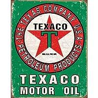 ブリキ看板 Texaco Motor Oil (1927) ティンサインプレート ティンサインボード アメリカ雑貨 アメリカン雑貨