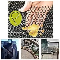 安全ネット 多目的な用途のネット 階段ネット 防護ネット 子供 転落防止網 ネッティングバルコニー、階段ブラックセーフティネット、ベビー幼児キッズペットバニスター階段ネットプロテクターキッズ/ペット/おもちゃの安全性を繁殖プラスチックフェンシング 怪我防止 危険防止 簡単設置 丈夫 取り付けバンド付属 (Color : Black, Size : 2x8m)