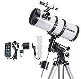 Visionking 150ミリの大口径反射望遠鏡の迫力天体望遠鏡 ドイツ式赤道儀 モータードライブ