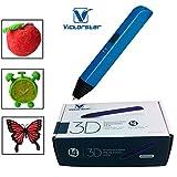 VICTORSTAR@3Dペン-RP600A / V 4世代-四つ大きな改善があり、より良い操作/3Dペン+電源アダプタ+ ABSフィラメント+マニュアル+ドライバー / 子供のためのアメージングギフト(Blue)