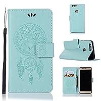 ケース for Huawei Honor 8, Abtory PUレザー ケース 手帳型 保護ケース カードポケット付き 横置きスタンド機能付き マグネット式 スマホケース スマートフォンケース for Huawei Honor 8 Green