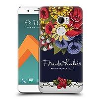 Official Frida Kahlo ブルーム レッド・フローラル ハードバックケース HTC One X10