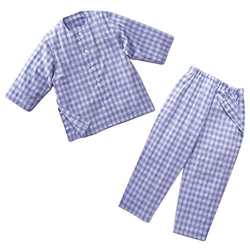 丸光産業 両脇開閉パジャマ (身長165-175cm 胸囲88-96cm) ブルー