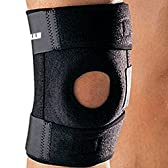 IPOW 膝サポーター 膝固定 膝痛膝サポーター 45cmサイズ ブラック  怪我防止 登山 バスケットボール アウトドアスポーツ フリーサイズ