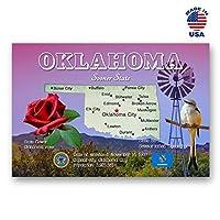 OKLAHOMA MAP ポストカード 20枚セット 同一のポストカード OK州地図ポストカード アメリカ製。