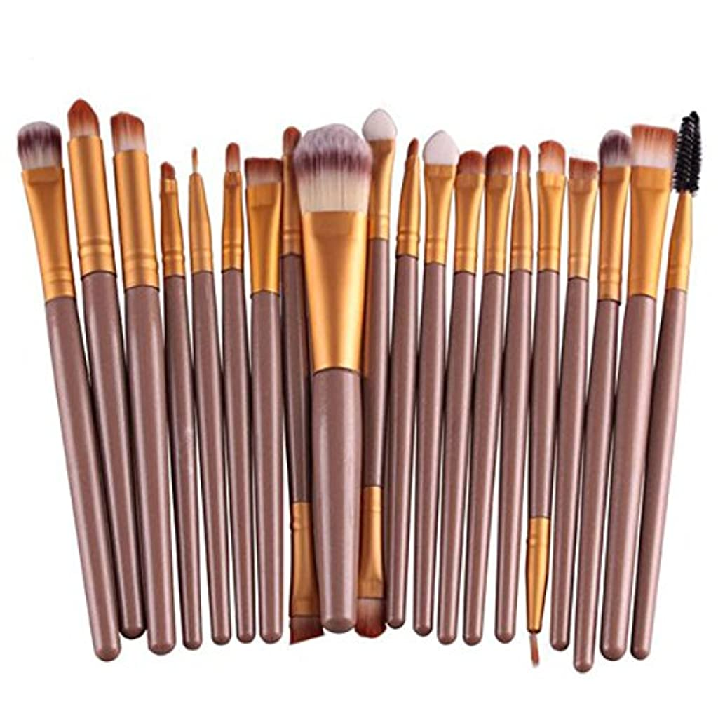 クレタ受益者不透明なProfessional 20pcs/set makeup brushes Foundation Powder Eyeshadow Blush Eyebrow Lip brush cosmetic tools maquiagem