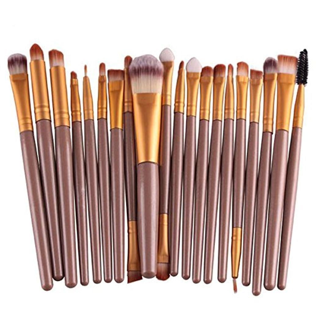 風景解釈するピクニックProfessional 20pcs/set makeup brushes Foundation Powder Eyeshadow Blush Eyebrow Lip brush cosmetic tools maquiagem
