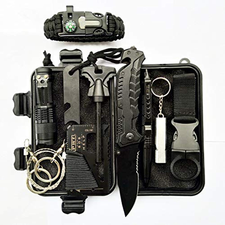美容師展開する不明瞭DeeploveUU アウトドアサバイバルキットセットキャンプハイキングのための多機能応急処置SOSキット緊急自己防衛ツール