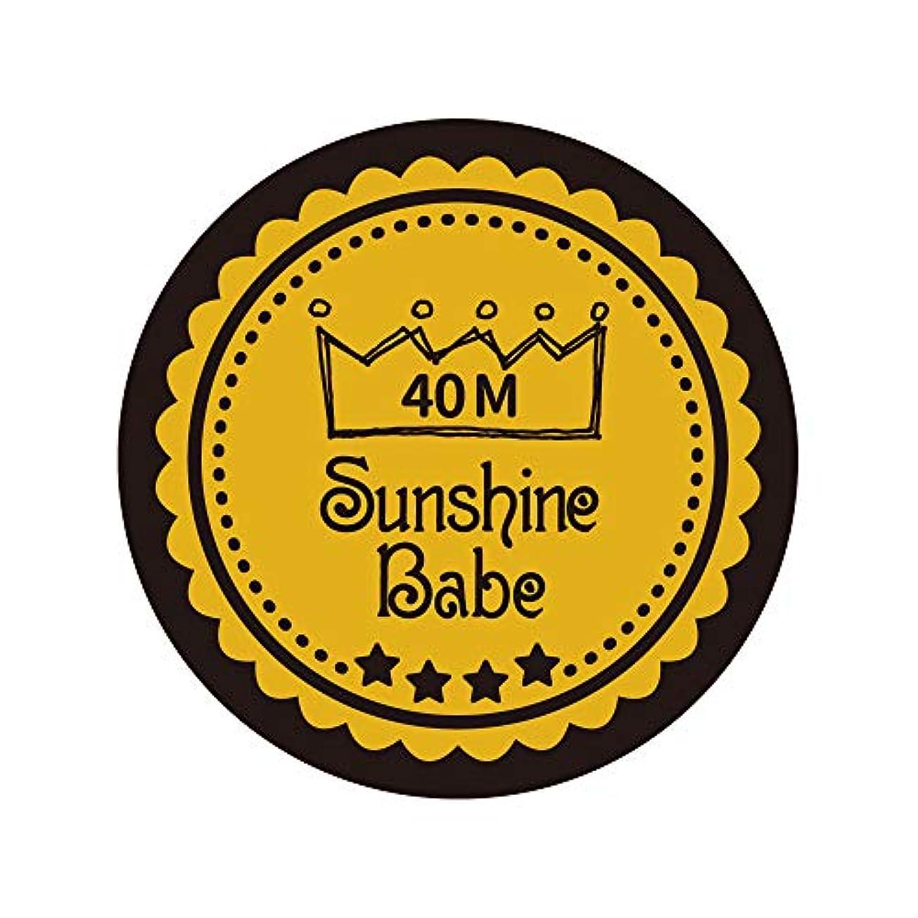 ありそう結果として何よりもSunshine Babe カラージェル 40M セイロンイエロー 4g UV/LED対応