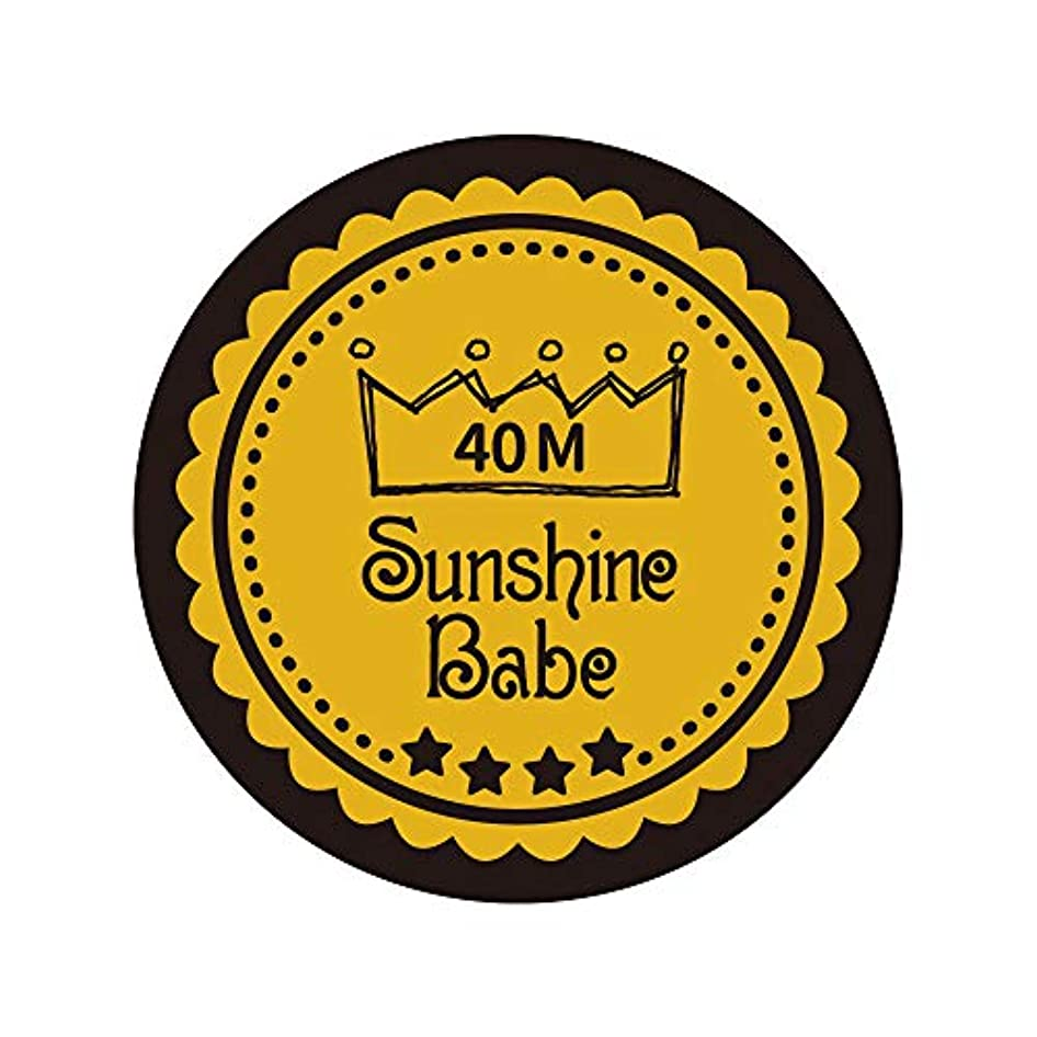 ちょうつがい生き残ります中級Sunshine Babe カラージェル 40M セイロンイエロー 4g UV/LED対応