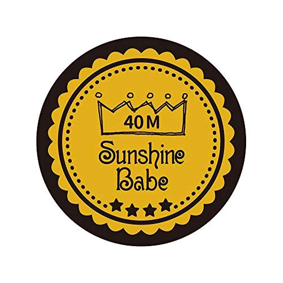 将来の見る家主Sunshine Babe カラージェル 40M セイロンイエロー 4g UV/LED対応