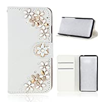 Alcatel 1X Flip Cover, Case, Moonmini 男性 Card Slot [Stand Feature] Leather Wallet Case Vintage Book Style Magnetic Protective Cover Holder for Alcatel 1X - Flower