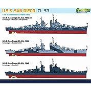 ドラゴン 1/700 U.S.S.アトランタ級軽巡 サンディエゴ CL-53 プレミアムエディション プラモデル