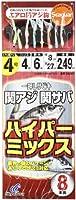 ハヤブサ(Hayabusa) 一押しサビキ 関アジ関サバ ハイパーミックス 4-4