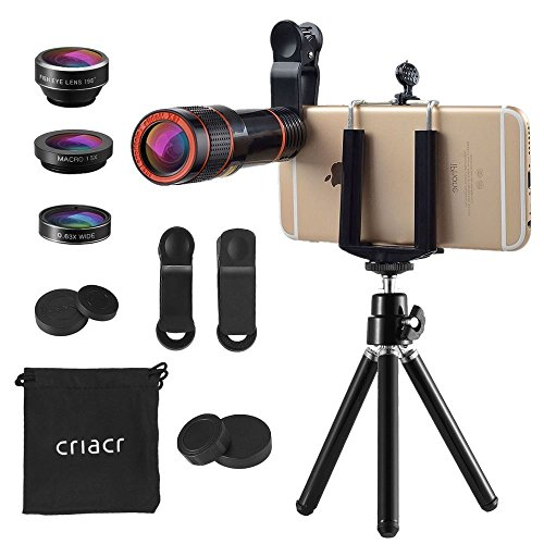 Criacr スマホ用カメラレンズ スマホ望遠レンズ 4 in 1