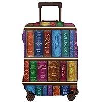 スーツケースカバー お荷物カバー ラゲッジ保護カバー テレサの本棚 伸縮素材 欧米風 キャリーバッグ ジッパー 防塵 防水 盗難 汚れ 傷 防止 通気性 出張 旅行