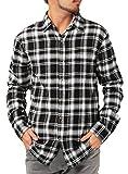 JIGGYS SHOP (ジギーズショップ) チェックシャツ メンズ 長袖 腰巻 サーフ系 ネルシャツ 大きいサイズ XXL モノトーン