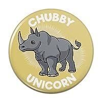 """チャビーユニコーンRhino Rhinoceros キッチン冷蔵庫ロッカーボタンマグネット - 2.25""""直径"""