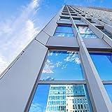 窓 断熱シート マジックミラー フィルム 目隠し UVカット 断熱 遮光 日よけ ガラス破片飛散防止 はがせる 残りなし めかくしシート シール 外から見えない 網入りガラスも適用(ミラー 90x200cm)