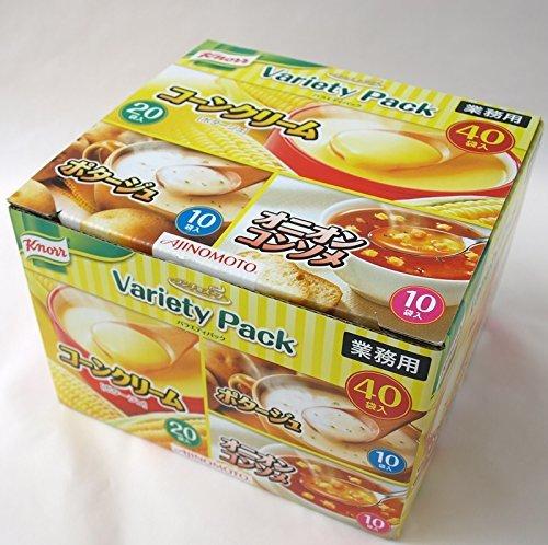 味の素 クノール AJINOMOTO Knorr ランチ用スープ バラエティパック 業務用(40食分)