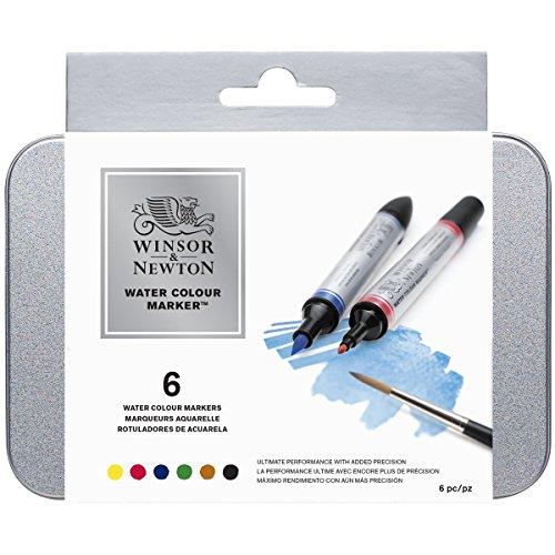 ウィンザー&ニュートン 水彩絵具 ウィンザー&ニュートン ウォーターカラーマーカー 6色セット  3ml