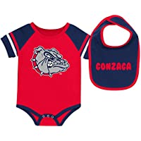 Gonzaga University Bulldogsベビーボディスーツとよだれかけセット幼児Jersey