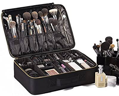 ROWNYEON Cosmetic Bag Makeup Artist Makeup Train Case Portable EVA Makeup Organizer Case