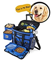 [Overland Dog Gear][Overland Dog Gear Rolling 犬のトラベルバッグ - Week Away Tote With Wheels For Med And Large Dogs] (並行輸入品)