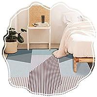ZEMIN リビングルーム カーペット エリアラグ じゅうた 装飾 幾何学 モダン ステイン/フェード耐性 多色 縞模様の 寝室 ベッドサイド ペダル 屋内 (Color : A, Size : 0.6x5m)