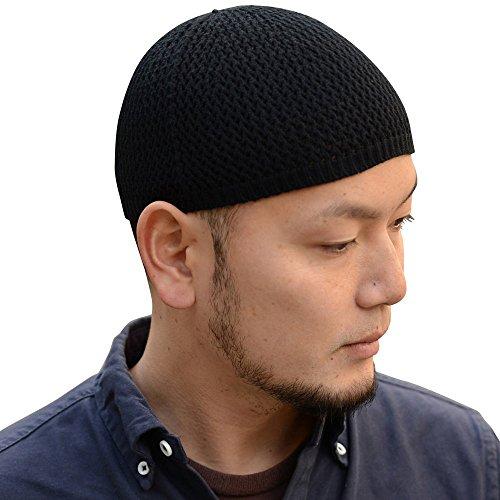 Nakota (ナコタ) シームレス コットン イスラム帽 イスラムワッチキャップ 日本製 帽子 ワッチキャップ ビーニー Sサイズ ブラック(97)