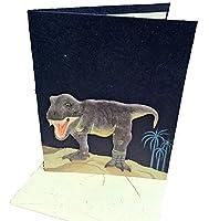 Mr。Ellie Pooh Tyrannosaurus RexハンドメイドデザイナーダークブルーGreeting Card ( 290–609132738845)