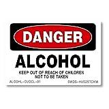 ACC-01 アルコール DANGER 危険 ステッカー