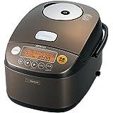 象印 圧力IH炊飯器 鉄器コートプラチナ厚釜 1升 ダークブラウン NP-BE18-TD