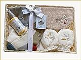 オーガニックコットン 出産祝いギフト 男の子 ベビー服 ギフトセット ビセラ 汗取りタオル 靴下 ベビー用品=日本製=出産祝いやギフト (1567-01)