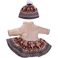 SONONIA  ブラウン  ニット セーター  冬 ドレス 帽子 セット 18インチアメリカンガールドール用