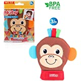 Nuby Happy Handimals Teething Mitten Monkey with衛生的旅行バッグ
