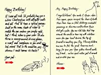 Quiplip Handwritten Yours Truly Birthday Cards 6-Pack (YT06086PCK) [並行輸入品]