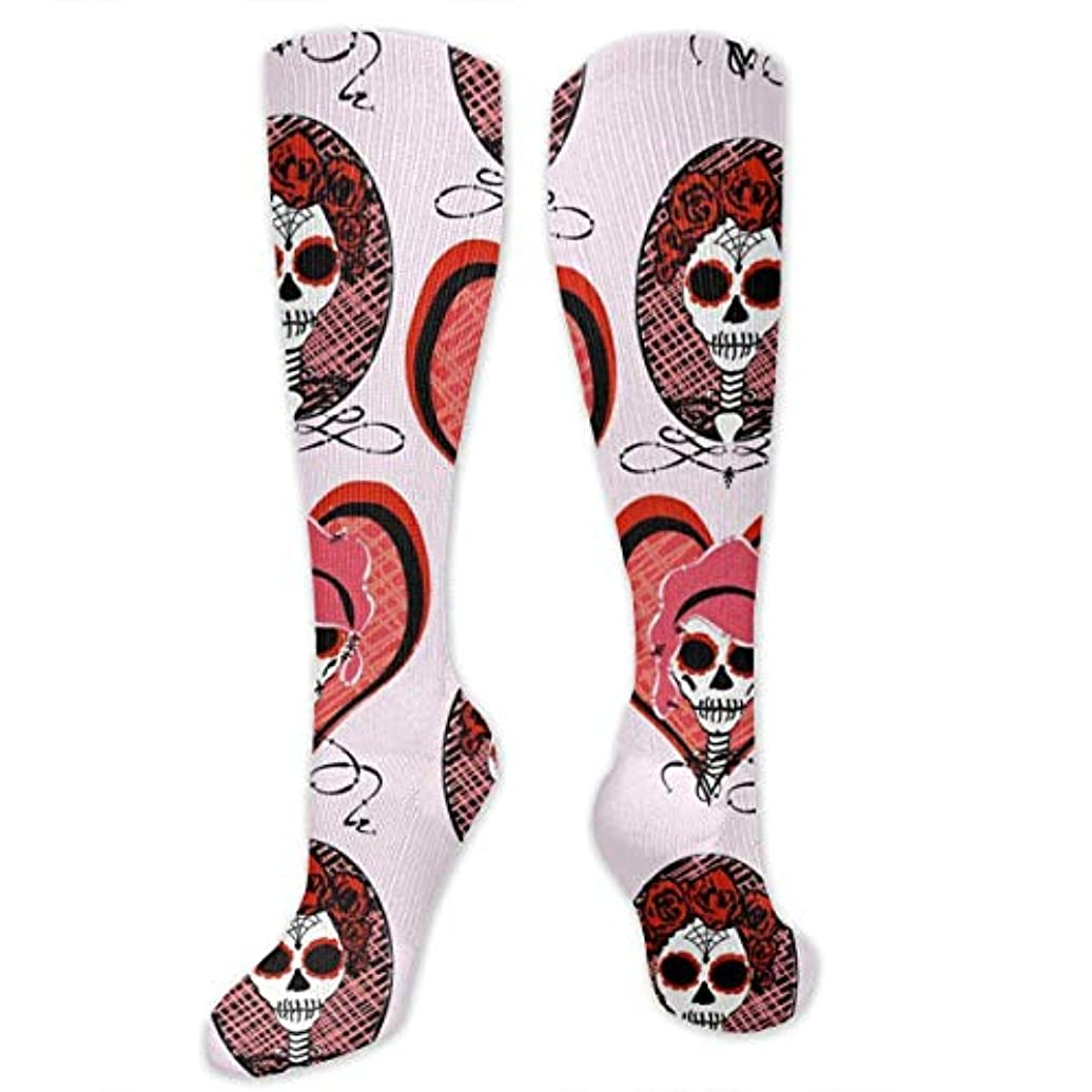 高いペチコート悪性靴下,ストッキング,野生のジョーカー,実際,秋の本質,冬必須,サマーウェア&RBXAA Red Sugar Skulls Socks Women's Winter Cotton Long Tube Socks Cotton...