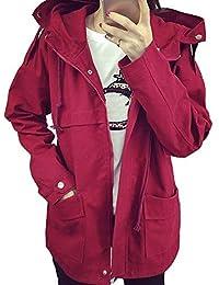 jiajia(ジア ジア)レディースドルマンフード モッズコートジャケットジップアップフライトジャケット カジュアル ファッションミリタリーアウター