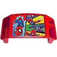 Spiderman MarvelスパイダーマンAdventuresアクティビティトレイwith 2ストレージWells & 1 Cup /鉛筆/クレヨンホルダー