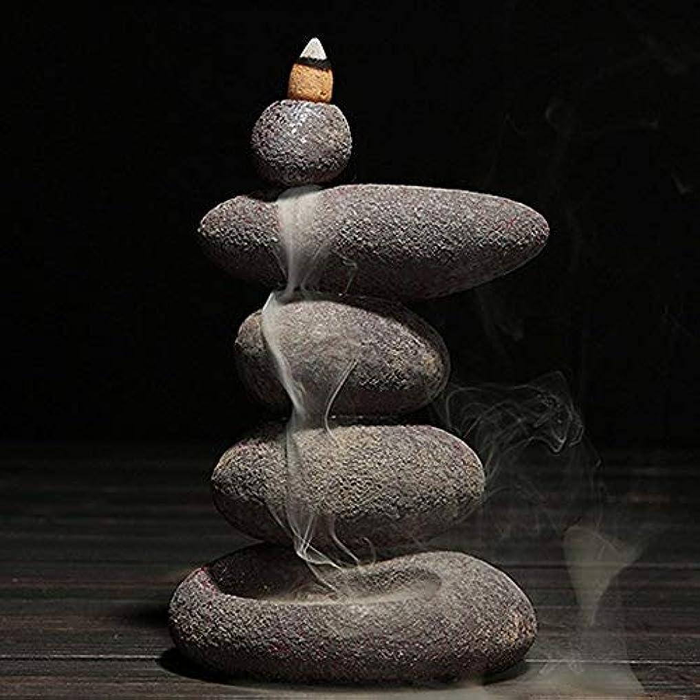地質学おばあさん本質的ではないお香 20個入り セラミック 香炉 逆流香 装飾レトロ 禅 仏教 アロマ リラクゼーション